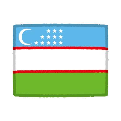 ウズベキスタン国旗のイラスト(2カット)