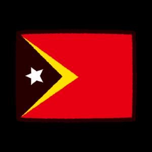 東ティモール国旗のイラスト