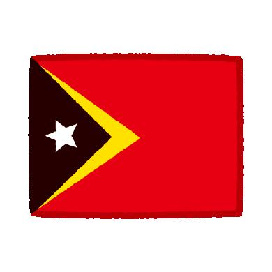 東ティモール国旗のイラスト(2カット)