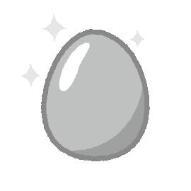 銀の卵のイラスト(2カット)