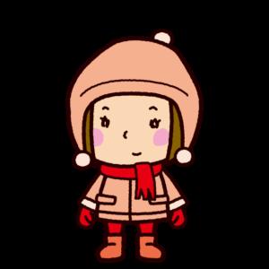 冬服の女の子のイラスト