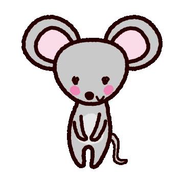 ネズミのイラスト(2020干支)(6カット)