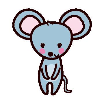 ネズミのイラスト2020干支6カット イラストくん