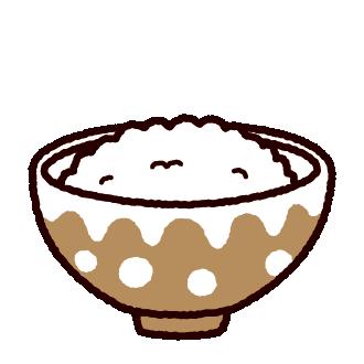 ご飯のイラスト(白ごはん)(4カット)