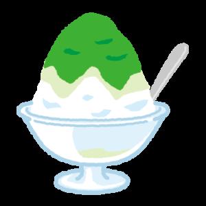 かき氷のイラスト(ガラスの器)
