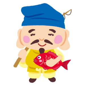 七福神のイラスト(恵比寿天)