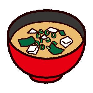 味噌汁のイラスト(4カット)