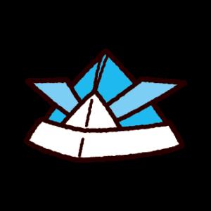 折り紙のイラスト(兜)