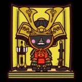 五月人形のイラスト(鎧兜・こどもの日)