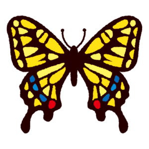 アゲハチョウのイラスト