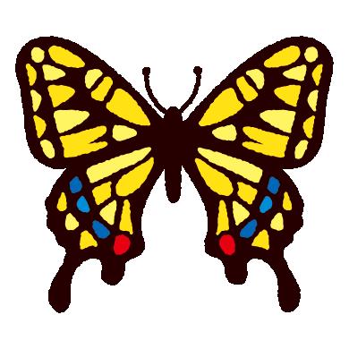 アゲハチョウのイラスト(3カット)
