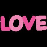 LOVEの文字イラスト