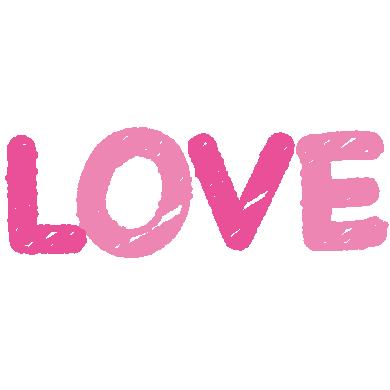 LOVEの文字イラスト(4カット)
