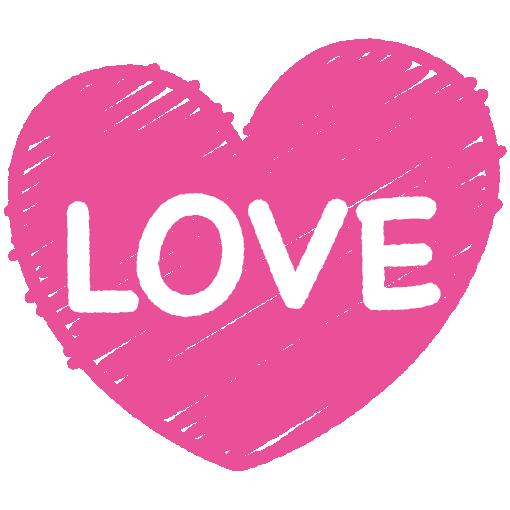 LOVEとハートの文字イラスト(4カット)