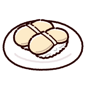 お寿司のイラスト(ホタテ)