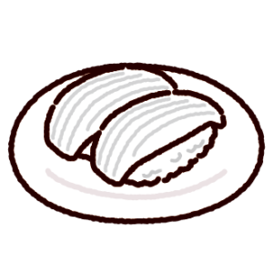 お寿司のイラスト(イカ)