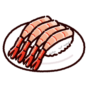 お寿司のイラスト(甘エビ)