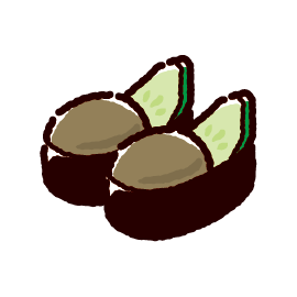 お寿司のイラスト(かにみそ)(2カット)
