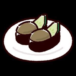 お寿司のイラスト(かにみそ)