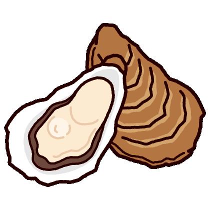 牡蠣のイラスト(2カット)