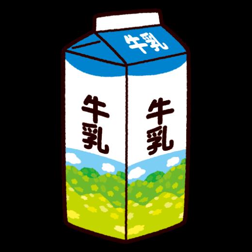 牛乳パックのイラスト(1L)(2カット)