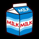 牛乳パックのイラスト