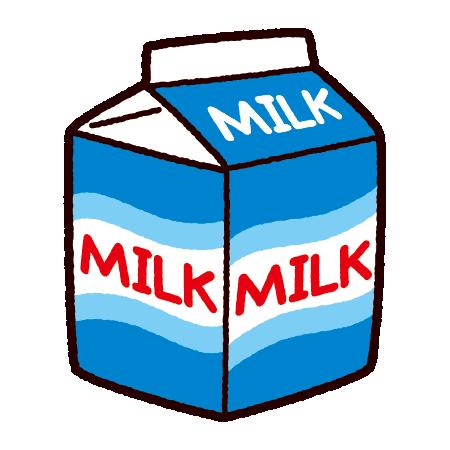 牛乳パックのイラスト(500mL)(2カット)