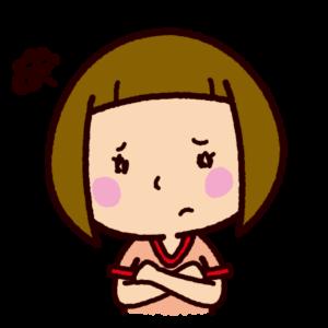 困るイラスト(悩む・女の子)