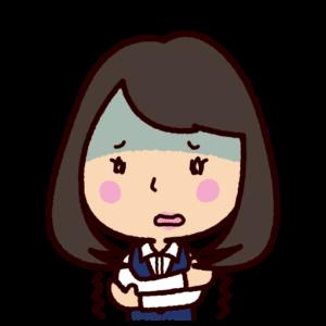 怯えるイラスト(恐怖・女性)