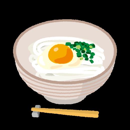 釜玉うどんのイラスト(2カット)