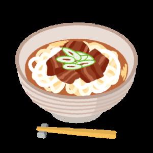 肉うどんのイラスト