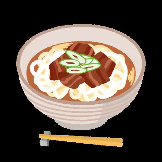 肉うどんのイラスト(2カット)