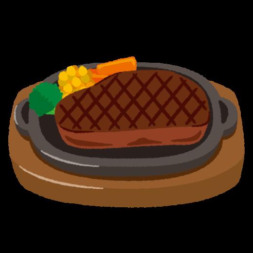 ビーフステーキのイラスト(2カット)