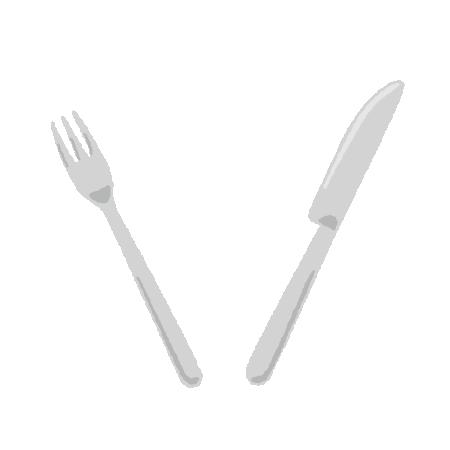 ナイフとフォークのイラスト