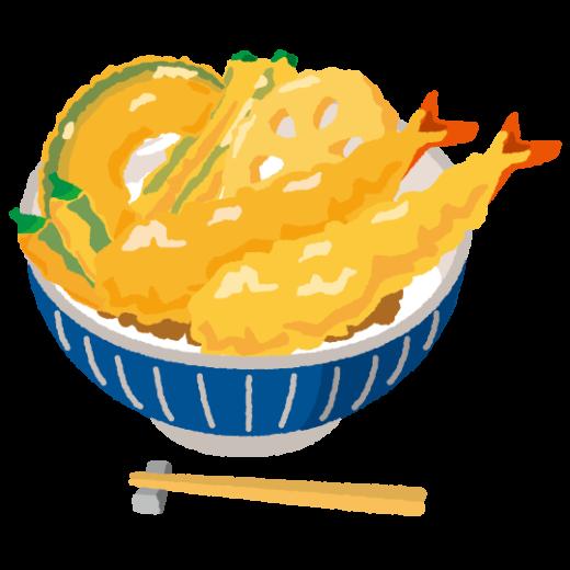 天丼のイラスト