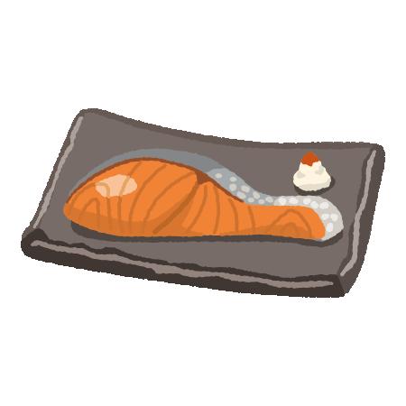 焼鮭のイラスト(2カット)