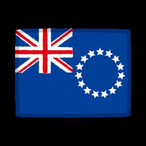 国旗のイラスト(クック諸島)