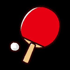 かわいい卓球のイラスト(シェークハンド・ラケット)