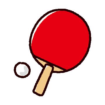 卓球のラケットのイラスト(シェークハンド・ピン球)