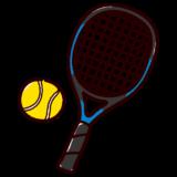 かわいいテニスのイラスト(ラケット・ボール)