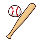 かわいい野球のイラスト(バット・ボール)