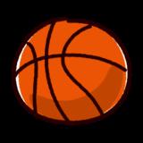 かわいいバスケットボールのイラスト(ボール)