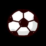 かわいいサッカーボールのイラスト(ボール)