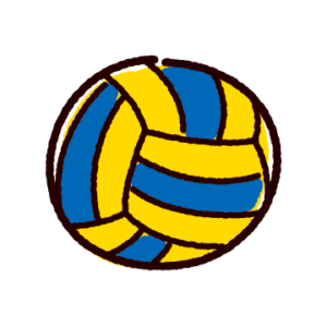 かわいいバレーボールのイラスト(ボール)