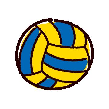 かわいいバレーボールのイラスト(ボール)(2カット)