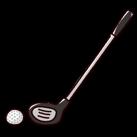 ゴルフクラブのイラスト(ドライバー)