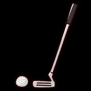 ゴルフクラブのイラスト(パター)