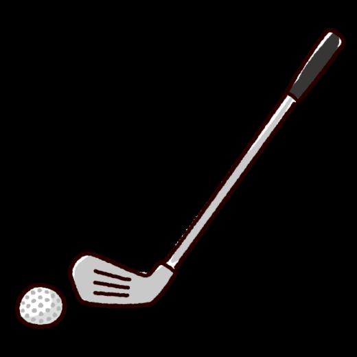 ゴルフクラブのイラスト(アイアン)