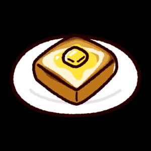 バタートーストのイラスト