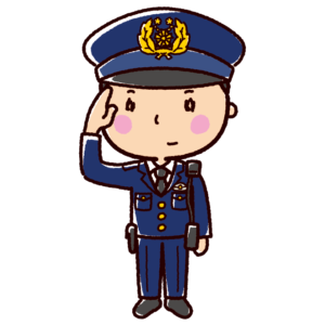 警察官のイラスト(男性)